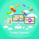 Computer portatile rispondente del email di vendita di Digital di progettazione Immagini Stock Libere da Diritti