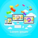 Computer portatile rispondente del email di vendita di Digital di progettazione Fotografia Stock Libera da Diritti