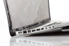Computer portatile rotto Immagine Stock