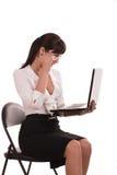 Computer portatile sconosciuto. Immagini Stock Libere da Diritti