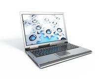 Computer portatile semplice Immagini Stock