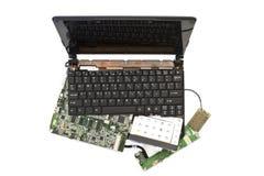 Computer portatile smontato nelle parti Fotografia Stock