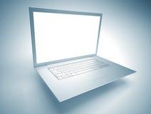 Computer portatile sottile Fotografia Stock Libera da Diritti
