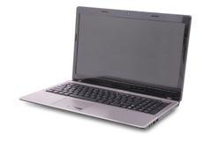 Computer portatile su bianco Fotografia Stock