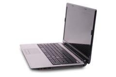 Computer portatile su bianco Fotografie Stock Libere da Diritti