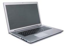 Computer portatile su priorità bassa bianca Fotografia Stock Libera da Diritti