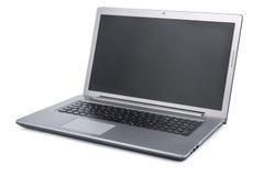 Computer portatile su priorità bassa bianca Immagini Stock