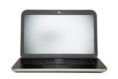 Computer portatile su priorità bassa bianca Fotografie Stock