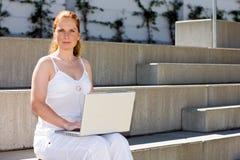Computer portatile sul popolare Fotografia Stock