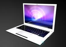 Computer portatile ultra sottile e moderno Fotografia Stock Libera da Diritti