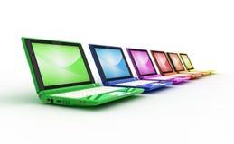 Computer portatili multicolori Fotografia Stock