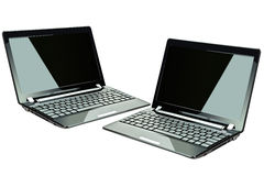 Computer portatili neri Immagine Stock