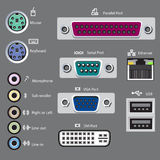 Computer ports type Royalty Free Stock Images