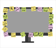 Computer Post-it in vector Stock Images