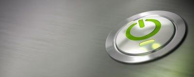Computer power button Stock Photo