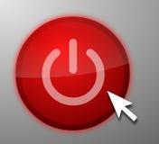 Computer power button Stock Photos