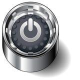 Computer power button. An icon of a computer power button Stock Photos