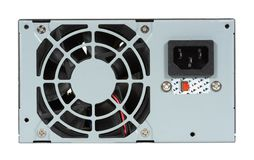 Computer Power Supply and Fan. Isolated over a white background Stock Images