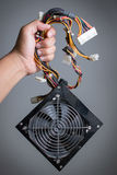 Computer power supply with hand hold. Stock Photo