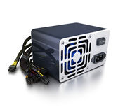 Computer power supply. On white background (done in 3d rendering Stock Photos