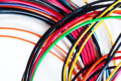 Computer power wires Royalty Free Stock Images