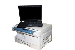 Computer and printer Stock Images