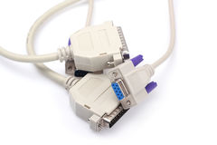 Computer and printer cable. On white background royalty free stock image