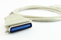 Computer Printer Cable closeup Royalty Free Stock Image