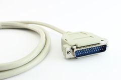 Computer Printer Cable isolated Royalty Free Stock Photos