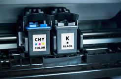 Computer printer ink cartridges Royalty Free Stock Photos