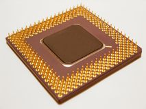 Computer Processor. Close up of a computer processor Royalty Free Stock Images