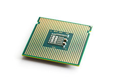 Computer processor. On white background Royalty Free Stock Photo