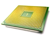 Computer processor. Close up of CPU pins Stock Photography