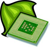 Computer Processor. Illustration Royalty Free Stock Photography