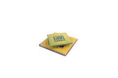Computer Processor Chips Closeup Royalty Free Stock Photo