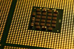 Computer processor close up. Computer processor close up, background Royalty Free Stock Photos