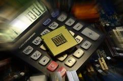 Computer processor close up. Royalty Free Stock Photo