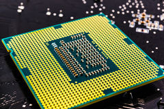 Computer processor close-up Stock Images