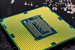 Computer processor close-up Stock Photos