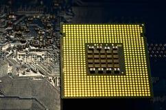 Computer processor close up. Stock Photos