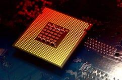Computer processor close up. Stock Image