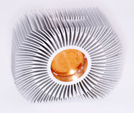 Computer processor cooler. On white background royalty free stock photos