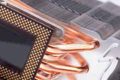 Computer processor cooler or radiator Stock Image