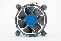 Computer processor cooling fan on a heatsink Stock Photography