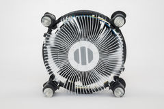 Computer processor cooling fan heatsink Royalty Free Stock Photos