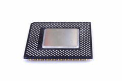 Computer Processor CPU. A computer system processor on white background Royalty Free Stock Photo