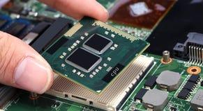 Computer processor cpu Stock Photo