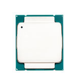 Computer processor CPU isolated on white background Royalty Free Stock Images