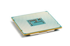 Computer processor CPU on white background Royalty Free Stock Image