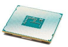 Computer processor, CPU on white background Stock Photo